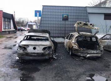 Auta spłonęły na Skarpie