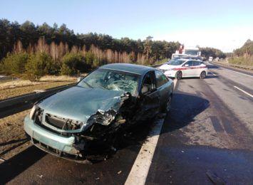 Wypadek na S10 [FOTO]