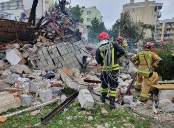 Wybuch przy Wybickiego w Toruniu