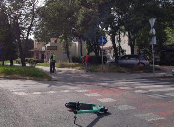 Zderzenie samochodu z hulajnogą w Toruniu