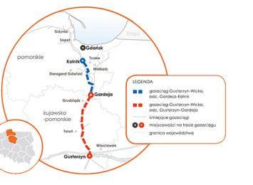 Gazociąg przetnie region